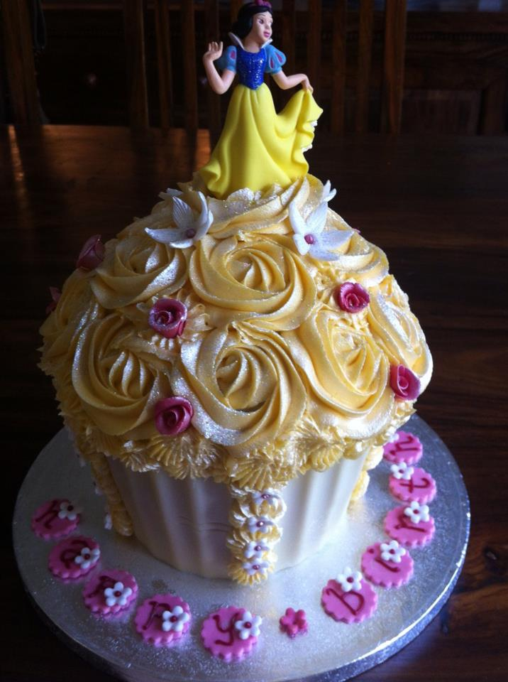 Giant Princess Cupcake | The Custom Cupcake Company Liverpool