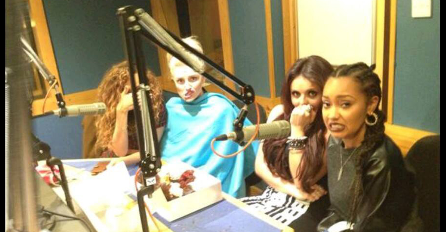 Little Mix enjoying our Custom Cupcakes